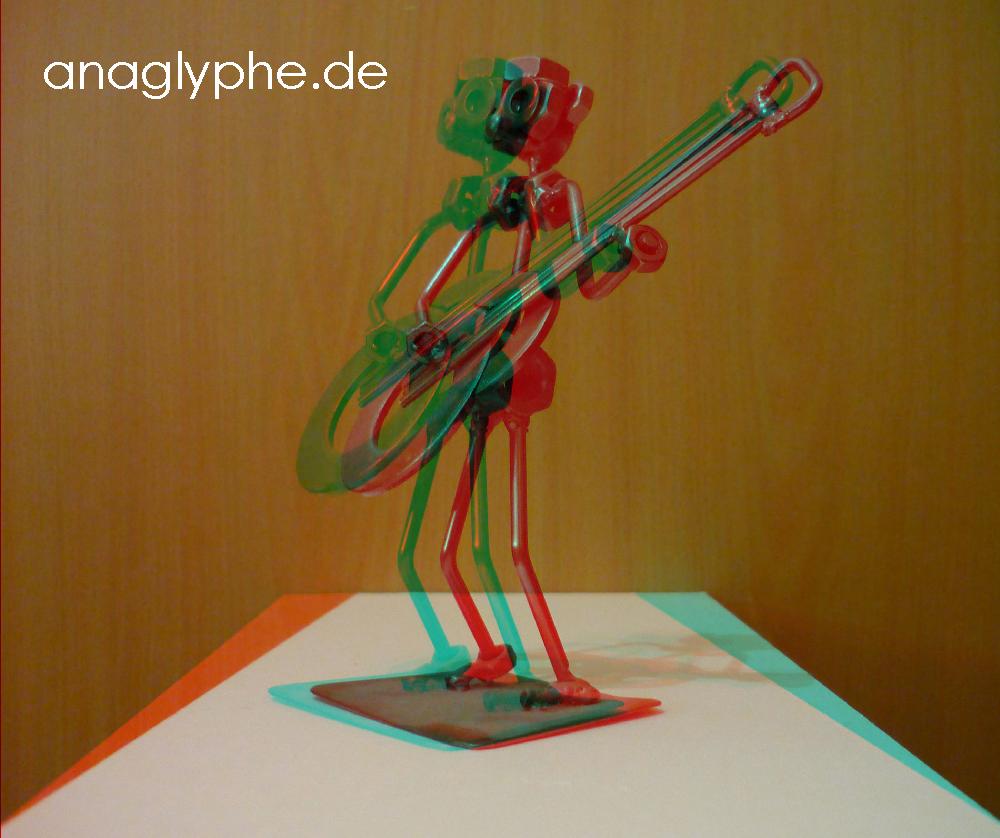 Anaglyphe Metalfigur